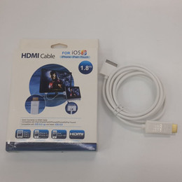 Wholesale Iphone Cables Meter - iPhone HDMI Cable 1.8 meter HDMI Cable for iPad1 iPad2 iPad3 iPhone4 iPhone4S iPod Touch4