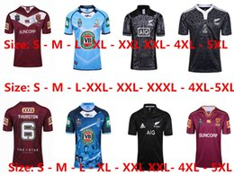 Wholesale Large Size Jerseys - 2017 2018 New Zealand All Blacks MAORI Rugby Jerseys 17 18 All Blacks Territory rugby QLD nsw shirts men euro Extra large size S-4XL-5XL