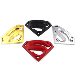 Wholesale 3m Reflective Motorcycle Stickers - car styling large metal 3D 3M superman auto logo badge motorcycle car stickers emblem car accessories free shipping joy