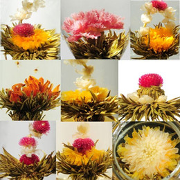 Wholesale Tea Blossoms - 20 kinds Blooming tea, individual package Artistic Blossom Flower Tea,,Free Shipping Free Gift