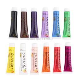 Wholesale 3d Nails Art Design - Wholesale-12 Color Acrylic Nail Kit Paints 3D Nail Art Designs Nail Tips Paint Tools Nail Decorations 12 ml color Drop Shipping Wholesale