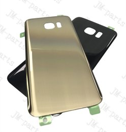 Wholesale Glass Panels For Doors - glass back cover battery door housing panel back housing For Samsung Galaxy S7 Edge G935 G935F With Adhesive Tape