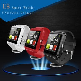 Wholesale Gps Bluetooth Phone Call - U8 Smart Watch Bluetooth Phone Mate Smartwatch Perfect for Android for 4S 5 5S for S4 S5 Note 2 Note4 Free Shipping