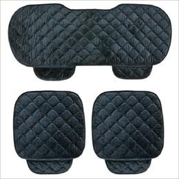 2019 copri sedili in velluto 5 posti coprisedili per auto Set per sedile anteriore anteriore Set sedia per donna Carina Car Seat Cuscino morbido seta velluto per la primavera Autunno Inverno