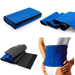 Wholesale Leg Fat Burner - 2016 Hot Selling Neoprene Waist Trimmer Sweat Fat Cellulite Burner Body Leg Slimming Shaper Exercise Wrap Belt In Blue