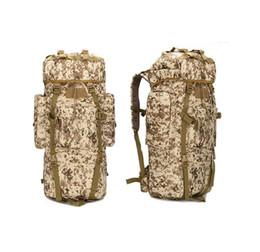 Wholesale High Density Bags - Capacity shoulders travel bag military uniform high-density waterproof men bag, camouflage climbing foot camping bag baggage baggage bag 65L