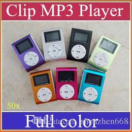 Canada 50x Clip MP3 Lecteurs Avec Fente Pour Carte TF Produits Électroniques Sport Métal Mini Lecteur Mustic Avec Écran LCD Radio FM A-MP Offre