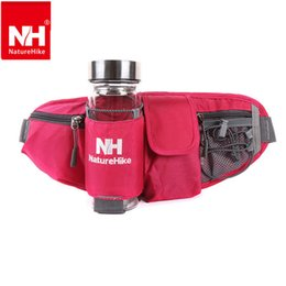 Wholesale Money Belts For Cycling - Wholesale-Naturehike Walking Running Cycling Waist Belt Packs For Smartphone key money Outdoor sports waist bag with Water Bottle Holder