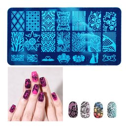 Wholesale Nail Art Stamping Stencils - 20 Styles Nail Stamping Plates Lace Flower Animal Pattern Nail Art Stamp Stamper Template Image Plate Stencil DIY Nails Tool ZA1645