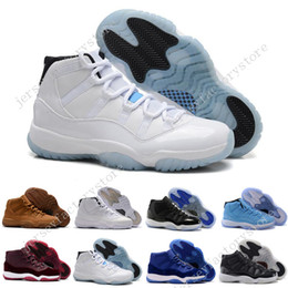 Wholesale Viscose Velvet - 2017 High Retro 11 Velvet Heiress Suede Wine Red Grey Mens Basketball Shoes Sneakers Out Door Sports Sneakers for Men Size 36-47 US 5.5-13