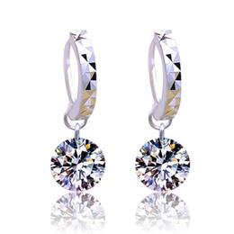 Wholesale Swarovski Earrings Sterling - Sterling Silver Earrings for Women Gemstone Big Long Dangle Geometric Drop Earrings Swarovski Cubic Zirconia Statement Crystal Earrings