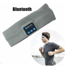 Wholesale Universal Fitness - Bluetooth Music Headband Stereo Wireless Headset Mens Womens Sports Running Fitness Yoga Stretch Head Wrap Caps Perfect Gifts