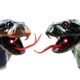 Wholesale Blue Brains - New Design RC Snake Bionic Reptile Animal 3CH Infrared Remote Radio Control Ratlesnake Tricky Brains Early Childhood Education Toys