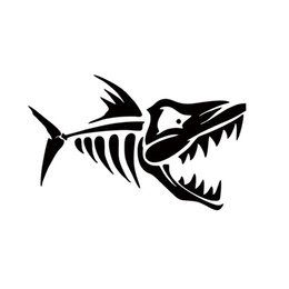 Wholesale Fish Bones Decals - New Style Car Stying Skeleton Fish Bones Vinyl Decal Art Sticker Car Accessories Decorative JDM