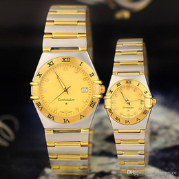 Wholesale Lover Watches Sale - Hot sale Men Women Lovers Watches Luxury brand Fashion Quartz Wristwatches Round Diamond Dial Stainless Steel Band Watch for Mens Ladies