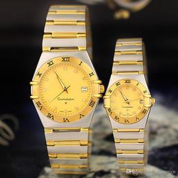 Wholesale Diamond Watch Band Men - Hot sale Men Women Lovers Watches Luxury brand Fashion Quartz Wristwatches Round Diamond Dial Stainless Steel Band Watch for Mens Ladies