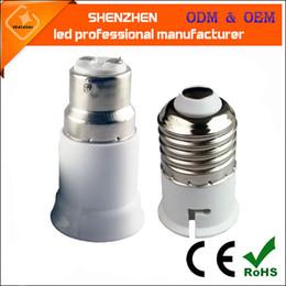 Wholesale E27 Sockets - B22 to E27 Base LED Light Lamp Bulb Fireproof Holder Adapter Converter Socket Change Converter Bayonet Socket B22 to E27 Lamps Holder