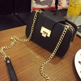 Wholesale Petite Small - Wholesale-2016 women's fashion handbag Girl Chain Shoulder bag mobile phone Small bag Solid Women brand Crossbody Messenger bag petite sac