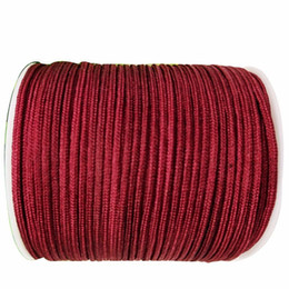 Wholesale Thread Braided Bracelets - 1mm Garnet Rattail Satin Braid Nylon Cord+Jewelry Accessories Thread Macrame Rope Shamballa Bracelet Beading Cords 350m Roll