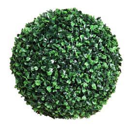 appendenti fioriti Sconti 2pcs palle di erba di nozze piante artificiali decorativi grande palla rotonda erba appesa fabbrica hotel erba palla bouquet palla fiore
