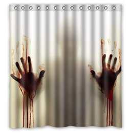 Wholesale Walking Dead Fabric - Custom The Walking Dead Shower Curtain Waterproof Polyester Fabric Bathroom Accessories Whit Hook Rings 66x72 Inch Free Shipping