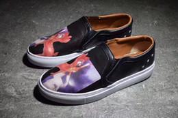 Wholesale Men Pedal Shoes - 2017 Summer wild men casual shoes fashion printed cloth shoes, lazy shoes a pedal car shoes, Genuine Leather leisure travel shoes