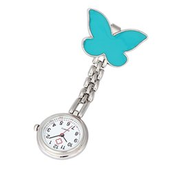 Wholesale Butterfly Clip Fob Watch - Wholesale-Superior Clip-on Fob Brooch Pendant Hanging Butterfly Watch Pocket Watch Nov 2