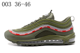 Wholesale X Lover - 2018 Undefeated x 97 OG 20 anniversary racer Men's Women's Lover Running Air cushion sneaker Sport Shoes TRIPLE BLACK green white