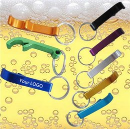 Wholesale Beverage Quality - New Top quality Key Chains Beer Bottle Opener Small Beverage Ring Claw Bar Pocket Tool Bottle Openers Free engraving LOGO 500pcs
