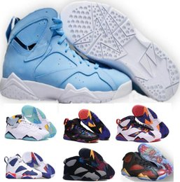 Wholesale Real Discount - Retro 7 Basketball Shoes Women Men Real Sneakers Authentic Replica Zapatos Mujer Homme Discount 2017 Retros Shoes 7s VII Sale