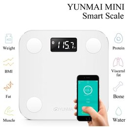 Wholesale Weigh Scales Digital - Original Yunmai Mini Bluetooth 4.0 Smart Weighing Scale Digital Health Scale Body Fat Scale Weighing Support Android 4.3 IOS7.0