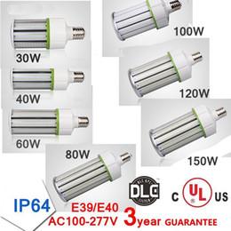 Wholesale E27 Led Corn Bulb Outdoor - E27 E40 LED Light Design Corn Bulb 30w 40w 60w 80w 100w 120w 150w IP64 Outdoor Lighting High Luminous LED lamp lights 2020