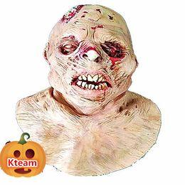 зомби-маски Скидка 2015 новый призрак зомби Маска Хэллоуин полная голова День Всех Святых латекс жуткий страшный ужас монстр маска страшный инопланетный НЛО Маска полная голова зомби