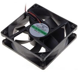 Wholesale Case Fan Cable - Wholesale- 80*80*25 MM Personal Computer Case Cooling Fan DC 12V 2200RPM 45CM Fan Cable PC Case Cooler Fans Computer Fans