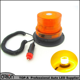 Wholesale Amber Warning Lights 24v - DC12V High power Amber Yellow Car Truck Magnetic Mounted Warning flash beacon Strobe Emergency light Police lights lamp