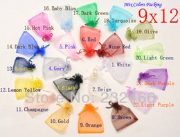 Wholesale Organza 9x12 - Wholesale-Free Shipping,Drawable Organza Bags 9x12 cm,Wedding Gift Bags,Jewelry Packing Bags,Wedding Pouches,Multi-Colors 100pcs lot