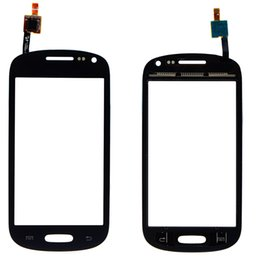 Wholesale Galaxy T599 - For Samsung Galaxy Exhibit T599V T599 T599N Touch Screen Digitizer Parts Blue White Cell Phone Front Glass Lens Repair Parts