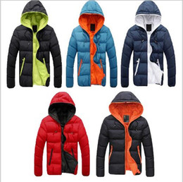 Wholesale Men Coats Checked - Please Check The Size Chart Men Jacket Coat With Hat Free Shipping Thin Winter Warm Parka Outwear M-3XL