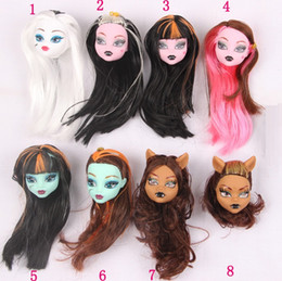 Wholesale Doll Head Parts - Hug Me Kids Toys 2017 Doll Accessories Monster High New Fashion Dolls Head Parts mix 8 style ER-906