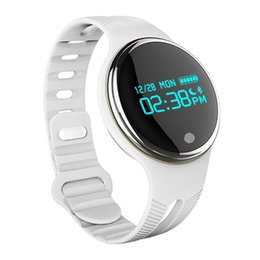 Wholesale ip65 phone - E07 Call Message Reminder Smart Bracelet Waterproof IP65 Smart Watch Sport Pedometer Sleep Monitor for android phones All Compatible