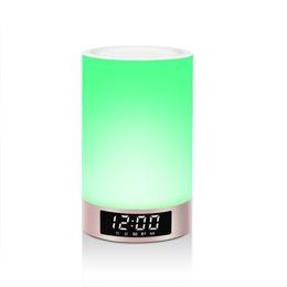 Haut-parleur Bluetooth Dimmble LED Lampe colorée Lampe de nuit Lumière douce et chaude Voir l'heure et la date Réveil En gros et au détail ? partir de fabricateur