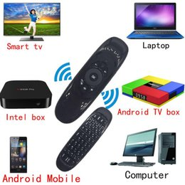 Wholesale Fly Cases - C120 T10 Mini 2.4G Wireless Keyboard With Microphone Voice Air Fly Mouse Fashion Remote Sensing Gaming Mouse Keyboard For Android TV BOX