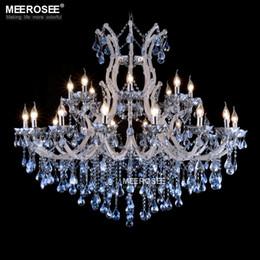 2020 maria theresa kronleuchter Blaue Farbe Maria Theresa Kristall Kronleuchter Lampe Licht Leuchte Große weiße Kronleuchter Lüster D1200mm H1000mm günstig maria theresa kronleuchter
