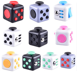 Wholesale Plastic Magic Box - 2017 Magic Fidget Cube Anti-anxiety Decompression Toy Adults Stress Relief Kids Toy Gift retail box OTH331