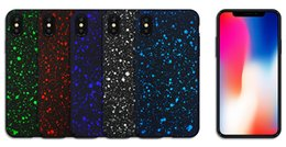 Wholesale Iphone Bling Star Case - For iPhone X Case 3D Ultra Thin Bling Fluorescence Stars Starry Sky Flowing Frosted Visual Effect Hard PC Cover For iPhone 8 Plus 7 6 6s