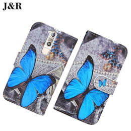 Wholesale Cute Chinese Phones - Wallet leather Case For ZTE Axon Mini Cover Cute Painting Protective Flip Case For ZTE Axon Tianji Mini B2015 Mobile Phone Bags