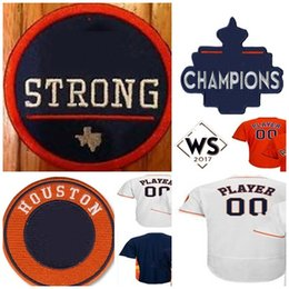 Wholesale Custom H - 2017 WS Champion Houston Mens Womens Youth Custom Name& Number Cool Flex Baseball Jerseys REMIND- H STROGH PATCH OR OTHER PATCHES PLS NOTE