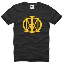 2019 logotipos de sonhos Novo Verão Sonho Teatro Logotipo Impresso Camiseta Rock And Roll Manga Curta de Algodão de Metal Rocha T-shirt Camisetas desconto logotipos de sonhos