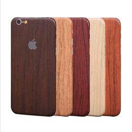 Wholesale Iphone Sticker Skin Cover - For iphone7 7plus iphone6 6splus full Body CellPhone Sticker Vintage Imitate wood grain Skin Cover for iphone5S Samsung S7 edge S6 J7 J5
