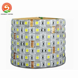 Wholesale Blue Wired Ribbon - 100M 24V LED Strip 5050 300led IP65 Waterproof Flexible Led Tape Ribbon Outdoor Decoration Led Ribbon White Warm White RGB red blue green
